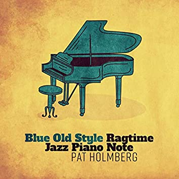Blue Old Style Ragtime Jazz Piano Note