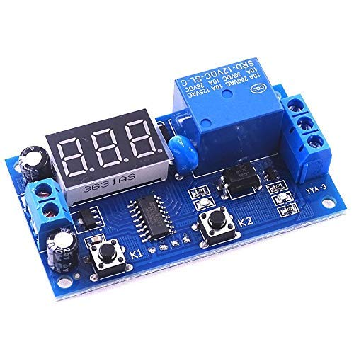 Módulo de temporizador de retardo de ciclo de relé de control de interruptor multifunción módulo de tiempo de retardo de 5 uds DC 12v-módulo de relé de retardo de tiempo