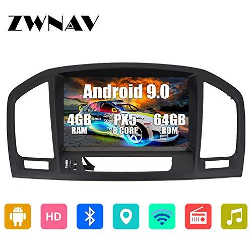 ZWNAV 8 Zoll Android 9.0 Autoradio für Opel Holden Insignia 2008-2013 Navigationsgerät 4G RAM 64G ROM, DVD-Player, SWC, WiFi, Bluetooth, IPS-Touchscreen
