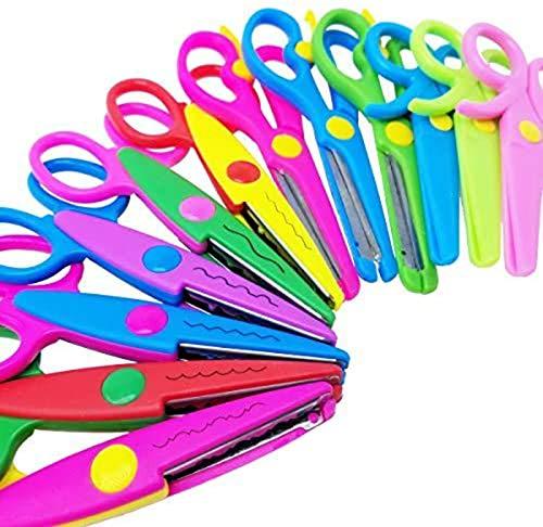 M-jump Scrapbooking Edger Scissors Scrapbooking Supplies Paper Decorative Edge Scissors,Wave edge Scissors for Scrapbook Album/decorative Stamps Edge/scrapbook Cards (set of 12)
