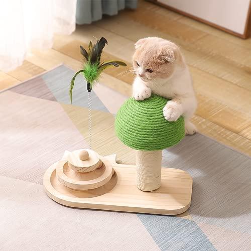 Yang Xin.Style Juguete interactivo para gatos de tres capas con forma de seta, juguete para gatos