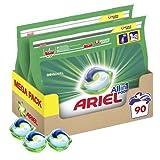 Ariel Allin1 Lessive en Capsules Liquides, 90 Lavages (2 x 45 Pods), Parfum avec une Fraîcheur Longue Durée