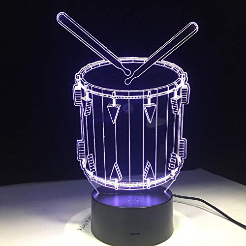 Jiushixw 3D-nachtlampje met driedimensionaal van kleur wisselend 3D-nachtlampje met turquoise bureaulamp als cadeau voor mannen in het helikoptervliegtuig