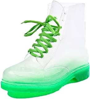MEIGUIshop Rain Boots - Fashion Jelly Transparent lace Short Tube Non-Slip Boots Water Shoes