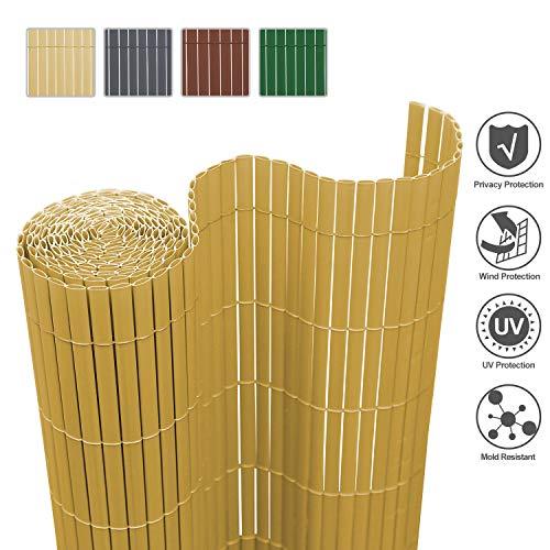 Sichtschutzmatte PVC Sichtschutzzaun Windschutz grau braun bambus VENTANARA