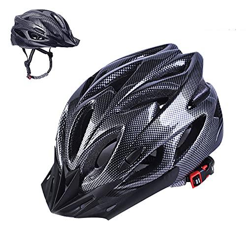 Athyior Casco Bicicleta Adulto Ciclismo Seguridad Helmet Casco Bici Ajustable 52-61cm para Ciclo patineta Scooter Patinaje Rodillo Blading Hombres Mujeres (Negro, Una Talla)