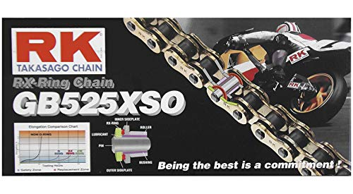 RK 525 XSO GB RX-Ring Chain - 116 Links , Chain Length: 116, Chain Type: 525, Color: Natural, Chain Application: All XF18-0634