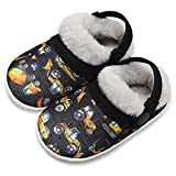 FIRES Baby Toddler Boys Girls House Slippers Socks Little Kids Warm Fuzzy Home Shoes Movable Heel Strap Anti-drop Slippers Convenient Machine Washable Shoes Indoor Outdoor littercar 18-24 Months