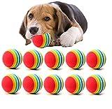 10Pcs Juguetes Bolas para Perros, Mignon Juguete Pelotas Coloridas de Espuma del Arco...