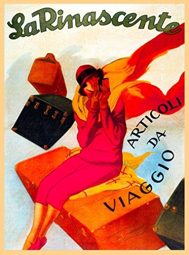 A SLICE IN TIME La Rinascente Articoli Da Viaggio Milan Italy Vintage Travel Collectible Home Wall Decor Advertisement Art Poster Print. 10 x 13.5 inches.