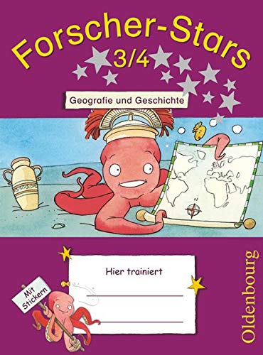 Forscher-Stars 3./4. Schuljahr. Geografie und Geschichte: Übungsheft. Mit Lösungen