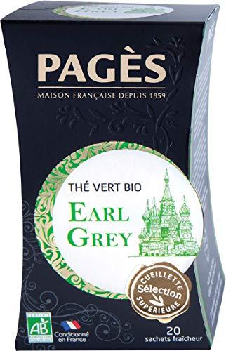 classement un comparer 20 sachets de Thé Vert Earl Grey Bio PAGÈS