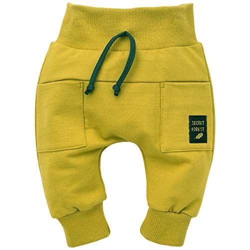 Pinokio - Secret Forest - Baby Kinder Jungen Hose 100% Baumwolle Gelb Pumphose Jogginghose Haremshose Unisex Schlupfhose 62-104 cm (104 cm, Gelb)