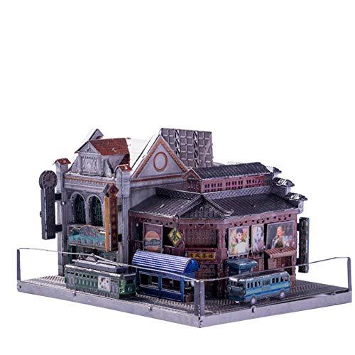 ZCRFYY 3D dreidimensionales Metallmontagemodell handgemachtes DIY-Gebäude-Puzzle-Spielzeug handgemachtes kreatives schwieriges DIY handgemachtes Geschenk,Model c