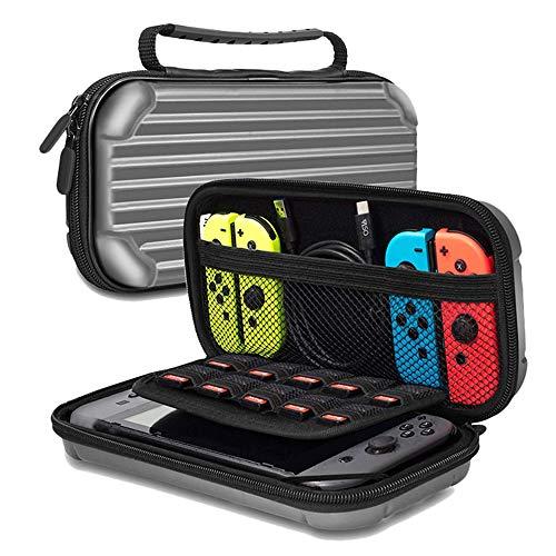 LSXX Commutateur de Transport Carry Bag Housse de Protection Shell Dur pour Nintendo Console Switch en Fibre de Carbone de Protection Rigide pour Nintendo Shell Pouch Switch Accessoires