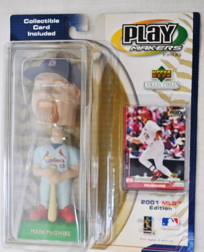 St. Louis Cardinals star Mark Mcgwire #25 official MLB Upper Deck Playmakers Bobble card set Bobblehead