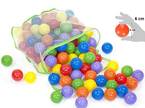 EevOveE 50 pcs Medium Size No Sharp Edges Premium Quality Balls Color Balls for Kids / Pool Balls Genuine Quality Set of 50 Balls - 6 cm Diameter(Medium Size)