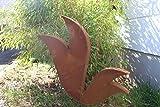 Zen Man jardín (Acero Inoxidable óxido de escultura de jardín de metal jardín Figure Símbolo de la suerte Jardín Decoración H60* 65* 5cm 031770