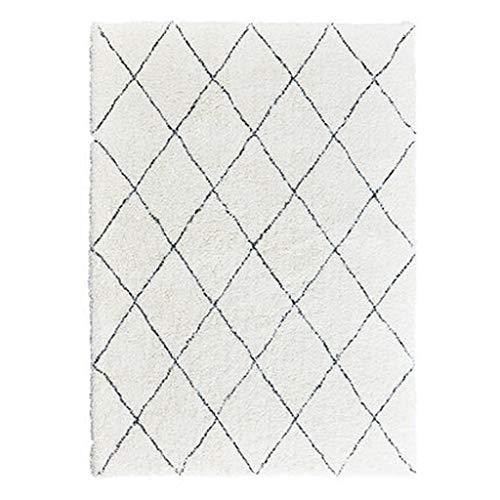 Alfombra de lujo, suave y cómoda, diseño geométrico para el salón de la habitación (color: C, tamaño: 60 x 200 cm)