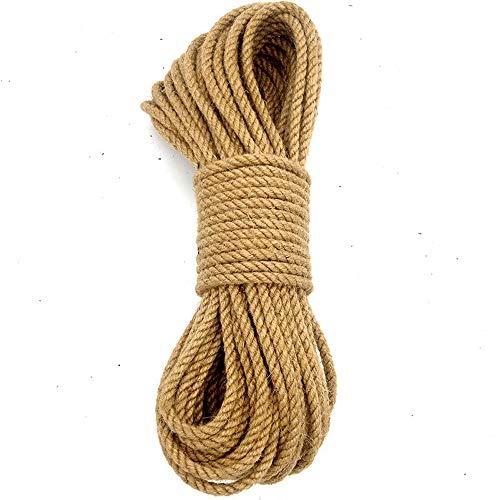 Greenpromise - Spago di iuta naturale per arti e mestieri, in corda di iuta industriale, per fai da te, artigianato, giardinaggio, 4 mm x 100 m