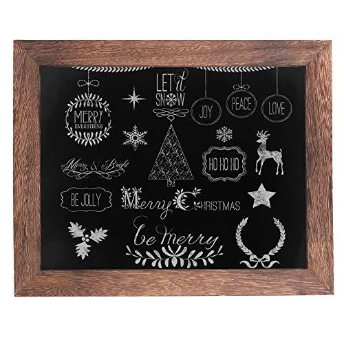 UNHO Kreidetafel Magnet Memotafel 28×35cm Schreibtafel zum Aufhängen Holzrahmen Tafel Wandtafel für Hochzeit, Party, Geburtstag, Bar