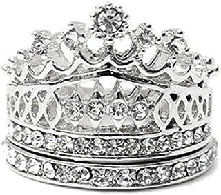 免运费皇家皇冠戒指套装