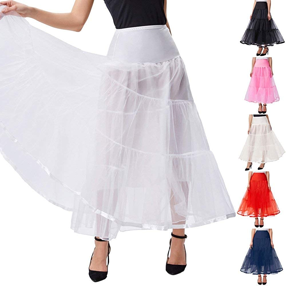 Steampunk Clothing, Fashion, Costumes GRACE KARIN Womens Ankle Length Petticoats Wedding Slips Plus Size S-3X  AT vintagedancer.com