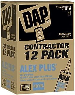 DAP Contractor 12-Pack - ALEX PLUS-« White Caulk