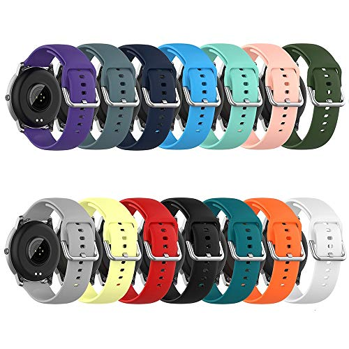 ZAJ 20mm 22mm Silikon-Bügel-Uhrenarmband-Armband-Uhrenarmband (Band Color : Water Duck, Größe : 20mm)