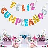 Unishop Guirnalda de Feliz Cumpleaños de Letras Multicolor, Decoración de Fiesta de Cumpleaños de Colores