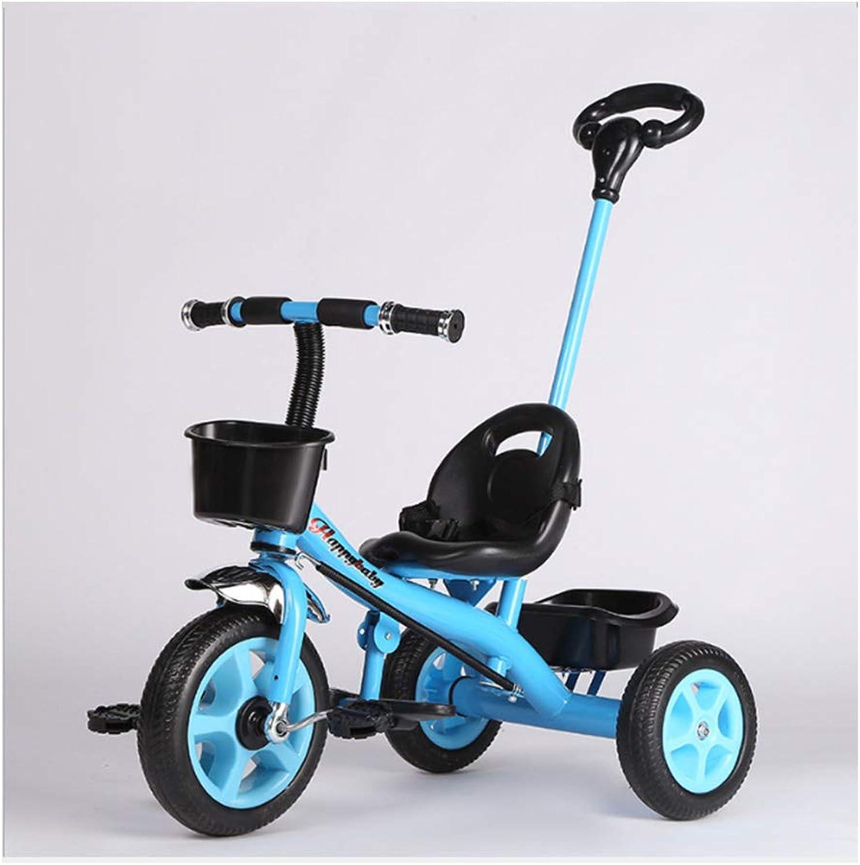 HeiDan autorello per Bambini Triciclo per Auto Regalo con Cintura di Sicurezza per Passeggino per Biciclette a Tre Ruote Giocattolo