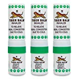 Tiger Balm Inhaler, Aromatherapy Fresh Cooling Menthol Herb Eucalyptus Essential Oils, 3 Count (Family Pack)