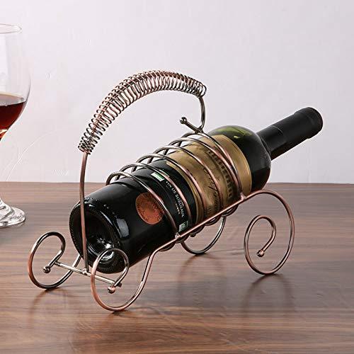 XKMY Housewares - Botellas de vino para el hogar, cocina, bar, accesorios prácticos para botellas de vino, decoración y estantes (color: bronce)