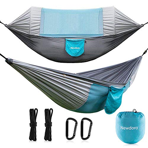 Newdora Hammock with Mosquito Net 2 Person Camping, Ultralight Portable Windproof, Anti-Mosquito,...