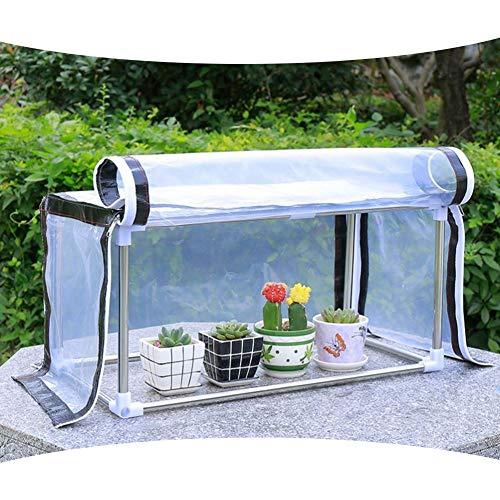Gzhenh Invernadero Pequeño,Proteccion Solar Impermeable Transparente Balcón Invernadero con Cremallera Ventilación Portátil, 9 Tamaños (Color : Claro, Size : 120x30x30cm)