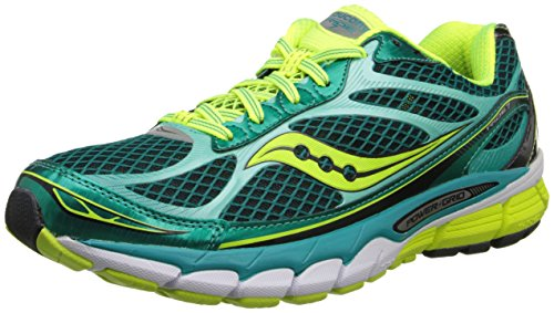 Saucony Women's Ride 7 Running Shoe,Green/Citron,7 M US