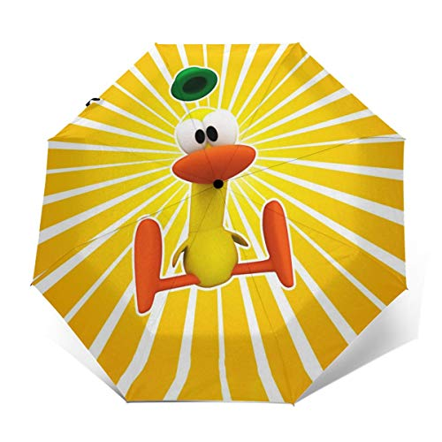 PKLUAS Paraguas Plegable automático, Mejores Momentos de Pocoyo, Resistente al Viento, Apertura automática y Cierre, Conveniente para Llevar Paraguas Plegable, Outer Print, Talla única
