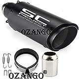 OZANGO IGZ8 Bike Universal Exhaust Silencer SC Project Straight Muffler Pipe Compatible