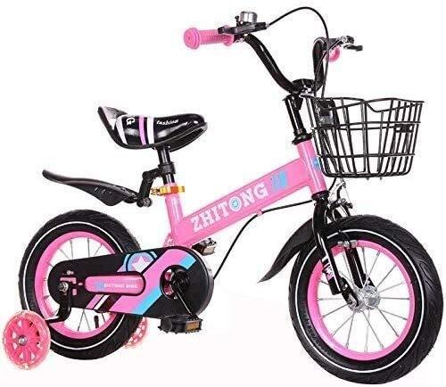 Querfeldeinfahrrad for Kinder 16-Zoll-Hilfsbremse und Korb Männer Frauen Stadt-Pendler-Fahrrad, ideal for die Straße oder Schmutz Trail Touring (Color : Pink)