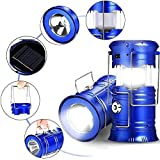 Walberrie Rechargeable Camping Lantern LED Solar Emergency Light Bulb with Torch and Charging Cable