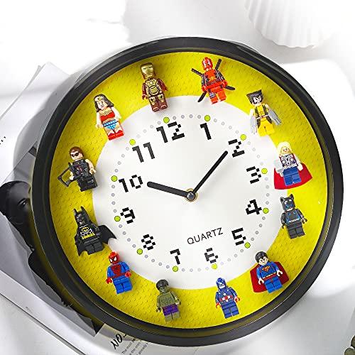 Reloj de Pared con Tema de superhéroes,...