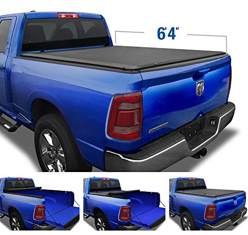 Tyger Auto T1 Soft Roll Up Truck Bed Tonneau Cover for 2019-2021 Ram 1500 New Body Style | 64 Bed | Not for Classic | Does Not Fit with Multi-Function (Split) Tailgate or RamBox | TG-BC1D9047