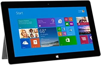 Microsoft Surface 2 Tablet - Windows RT 8.1, 10.6in 1920x1080 1080P LCD Touchscreen, Front and Rear Camera Office RT 2013 Included (Renewed)
