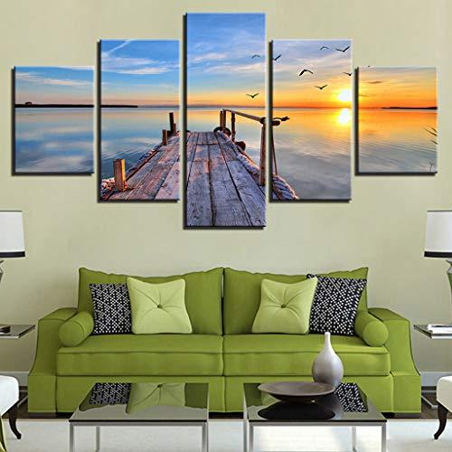 5 Panel Beach Canvas Wall Art $13.99 (80% OFF Coupon)