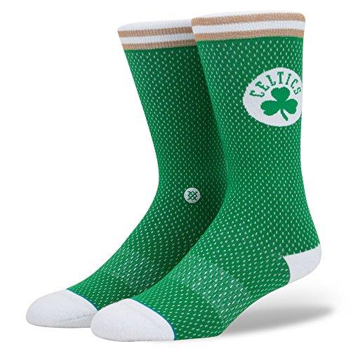 Stance Chaussettes Celtics en jersey pour homme. L vert