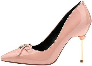Ying-xinguang Shoes Fashion Bow Sexy Stiletto Shoes Women's High Heel Comfortable