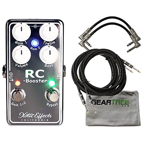 Xotic RCB-V2 RC Booster V2 Guitar Effects Pedal w/Cleaning Cloth and 4 Cables