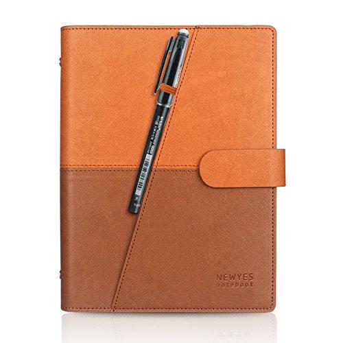 HOMESTEC Smart Notebook Taccuino Digitale A5 - Cancellabile,Riutilizzabile Compatibile con Sistemi Cloud, Agenda Giornaliera, Organizer, Planner Settimanale, Mensile, Annuale, Senza Date (Marrone)