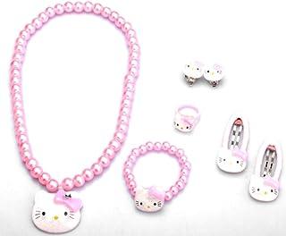 5be7bbe74 Glazed Black Cherry Sweet - Hello Kitty Jewerly Set - Necklace - Bracelet -  Earrings -