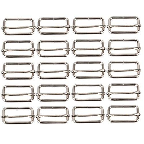 bqlzr Bar tri-glides coulissante en métal boucles broches réglage coulissant pour sangle 38 mm Lot de 20